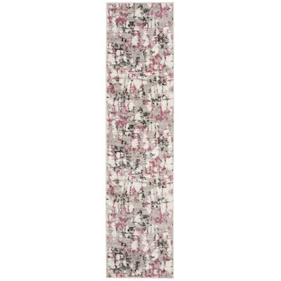 Despain Gray/Pink Area Rug Rug Size: Runner 2 x 8
