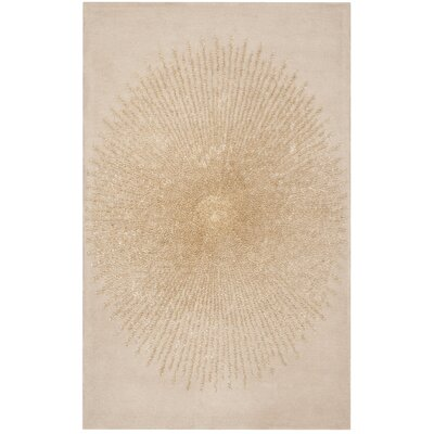 Tess Hand-Tufted Beige/Gold Area Rug Rug Size: Rectangle 36 x 56
