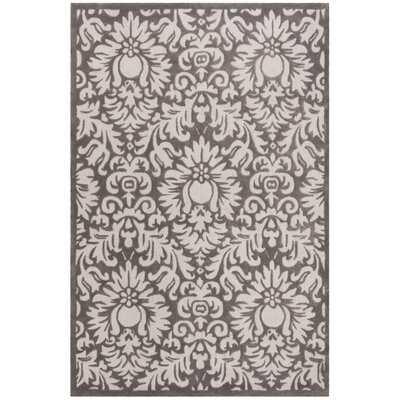 Kingsview Hand-Hooked Gray/Beige Area Rug Rug Size: Rectangle 8 x 10