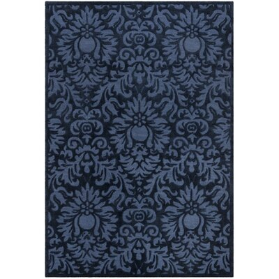 Kingsview Hand-Hooked Blue Area Rug Rug Size: Rectangle 4 x 6