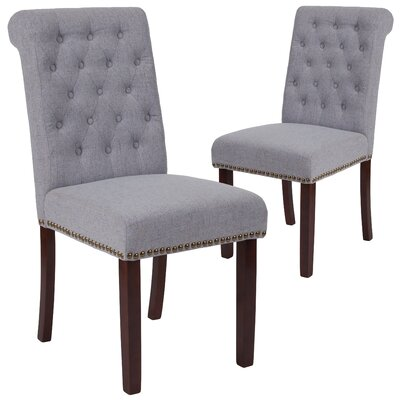 Fransen Upholstered Dining Chair Upholstery Color: Light Gray