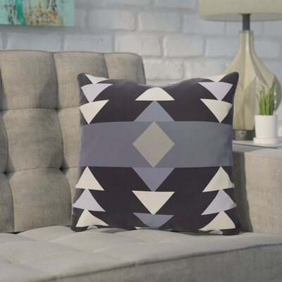 Kleopatros Geometric Outdoor Throw Pillow Color: Blue