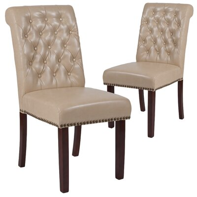 Fransen Upholstered Dining Chair Upholstery Color: Beige