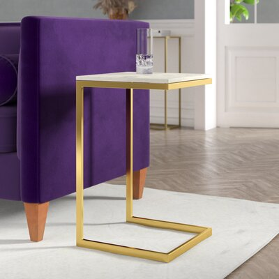 Runge End Table Finish: Gold