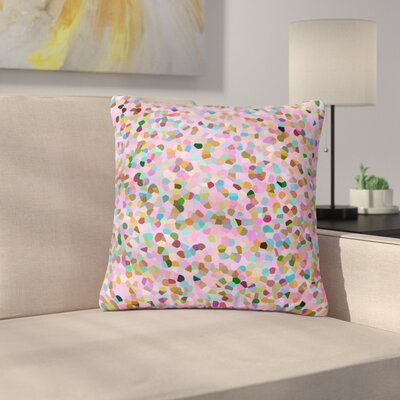 Vasare Nar Candy Confetti Abstract Outdoor Throw Pillow Size: 18 H x 18 W x 5 D