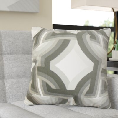 Randle Geometric Cotton Throw Pillow Color: Gray/White