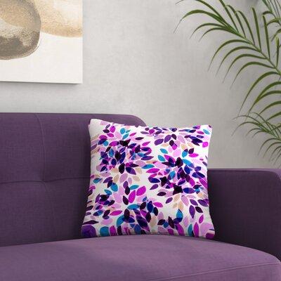 Ebi Emporium Dahlia Dots Outdoor Throw Pillow Size: 16 H x 16 W x 5 D, Color: Pink/Purple