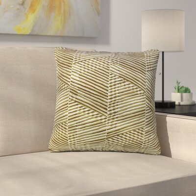 Roybal Geometric Cotton Throw Pillow Color: Goldleaf