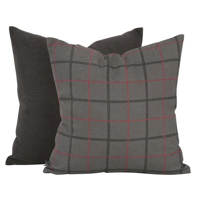 Lubbers Throw Pillow Color: Charcoal Gray, Size: 16 x 16, Fill Material: Polyester