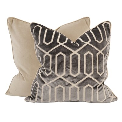 Kovacs Throw Pillow Color: Pewter, Size: 24 x 24