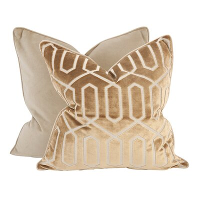 Kovacs Throw Pillow Color: Bronze, Size: 24 x 24