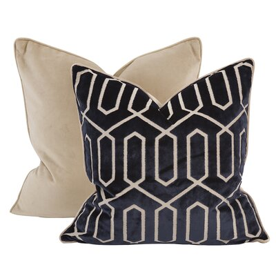 Kovacs Throw Pillow Color: Sapphire, Size: 24 x 24