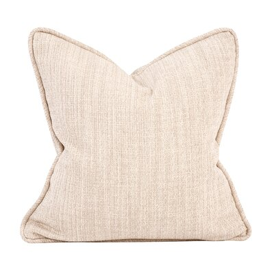 Mccarty Throw Pillow Color: Sand, Size: 20 x 20
