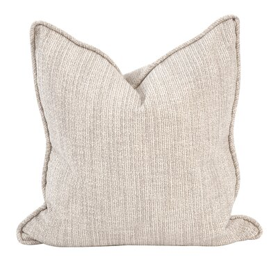 Mccarty Throw Pillow Color: Stone, Size: 24 x 24