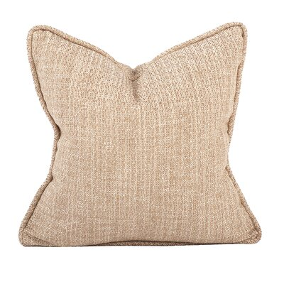 Mccarty Throw Pillow Color: Bronze, Size: 20 x 20
