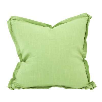 Cracraft Slub Linen Throw Pillow Color: Green, Size: 20 x 20
