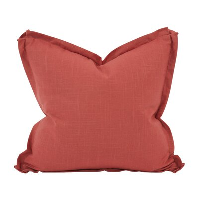 Cracraft Slub Linen Throw Pillow Color: Red, Size: 20 x 20