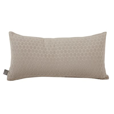 Roles Deco Lumbar Pillow Color: Stone, Fill Material: Down