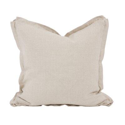 Cracraft Slub Linen Throw Pillow Color: Beige, Size: 24 x 24