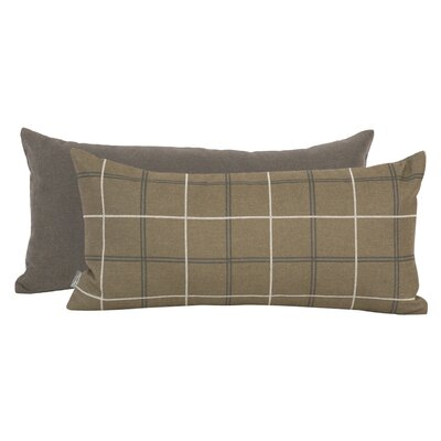 Luby Lumbar Pillow Color: Moss Brown, Fill Material: Down