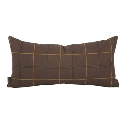 Luby Lumbar Pillow Color: Chocolate Brown, Fill Material: Down