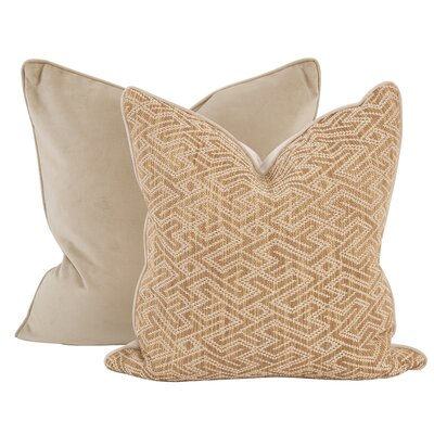 Collinsville Throw Pillow Color: Topaz Gold, Size: 20 x 20