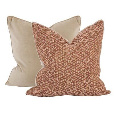Collinsville Throw Pillow Color: Canyon Red, Size: 24 x 24