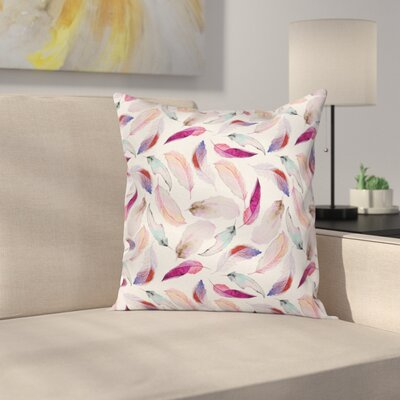 Romantic Case Wing Feathers Wing Art Square Pillow Cover Size: 20