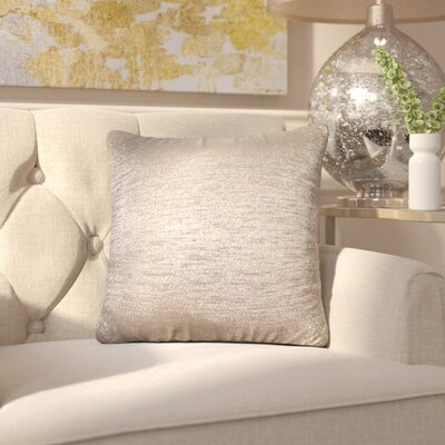 Alas Throw Pillow Size: 16 H x 16 W x 4 D, Color: Sand