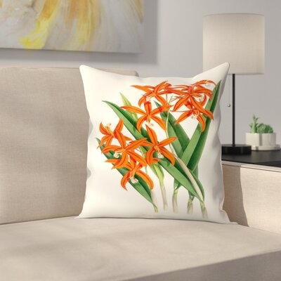 Fitch Orchid Laelia Harpophylla Throw Pillow Size: 14 x 14