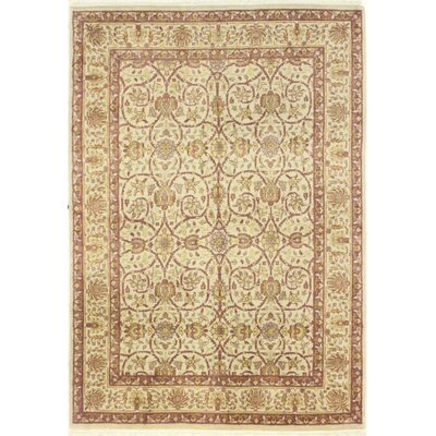 One-of-a-Kind Hand-Woven Wool Beige/Brown Area Rug