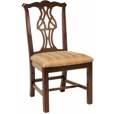 Solid Wood Dining Chair Upholstery Color: Howdy Taupe, Frame Color: English Oak