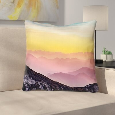 Thang Pastel Landscape Zipper Throw Pillow Size: 18 x 18