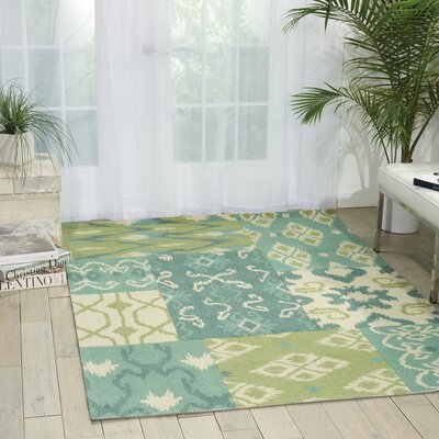 Cragin Ivory/Green Area Rug