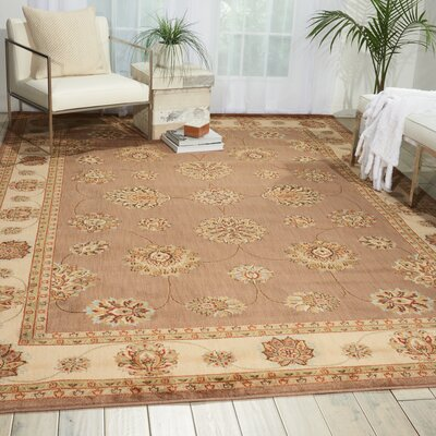 Herzberg Mocha Area Rug Rug Size: Retangle 53 x 75
