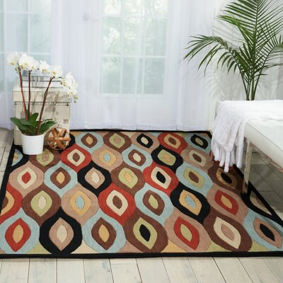 Landeros Brown/Red Area Rug