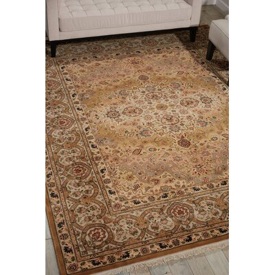 Pickrell Hand-Knotted Wool Brown Area Rug