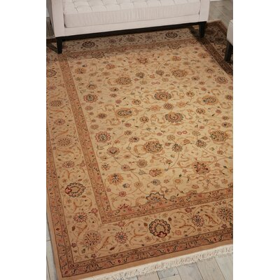 Dunluce Hand-Knotted Wool Beige/Brown Area Rug