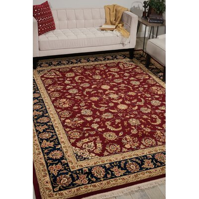 Dunluce Hand-Knotted Wool Burgundy/Brown Area Rug