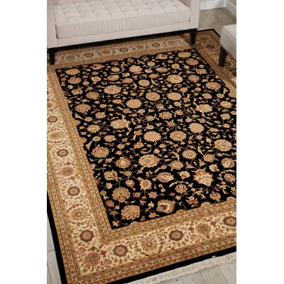 Dunluce Hand-Knotted Wool Black/Beige Area Rug