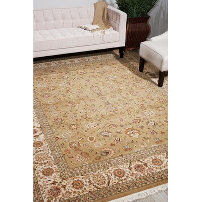 Dunluce Hand-Knotted Wool Khaki Area Rug