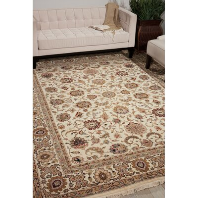 Dunluce Hand-Knotted Wool Ivory Area Rug