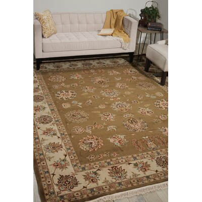 Dunluce Hand-Knotted Wool Olive Area Rug