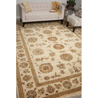 Dunluce Hand-Knotted Wool Beige/Ivory Area Rug
