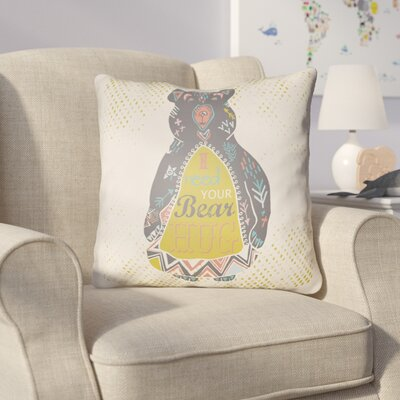 Colindale Bear Throw Pillow Size: 20 H x 20 W x 4 D, Color: White