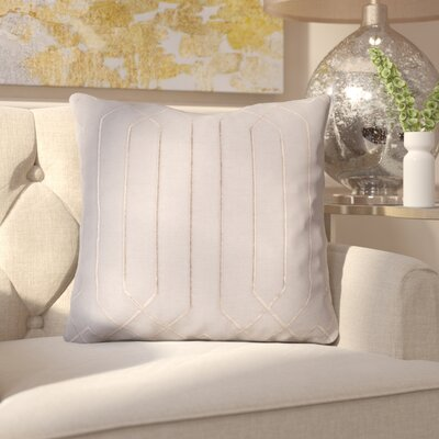 Kaivhon Square Linen Throw Pillow Size: 18 H x 18 W x 4 D, Color: Charcoal