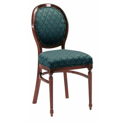 Upholstered Dining Chair Upholstery Color: Partner Black, Frame Color: English Oak