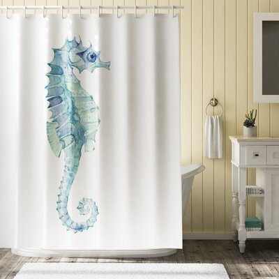 Roxanna Painbrush Photo Seahorse Shower Curtain Size: 69 W x 75 L