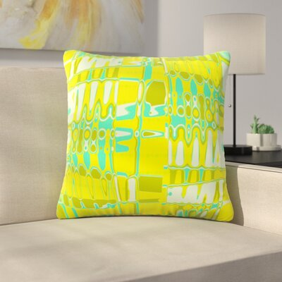 Changing Gears by Vikki Salmela Outdoor Throw Pillow Color: Yellow