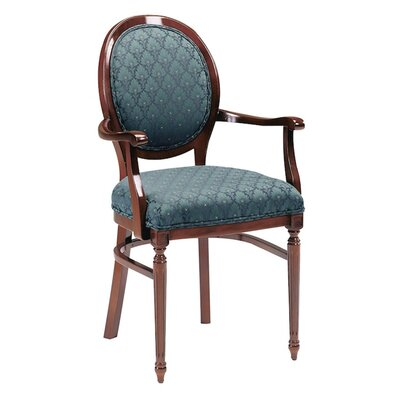 Upholstered Dining Chair Upholstery Color: Partner Black, Frame Color: Montana Walnut